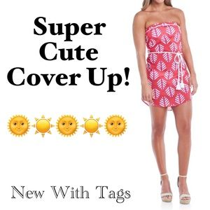 🌟MUST BUNDLE🌟 NWT Adorable Pink Cover Up!